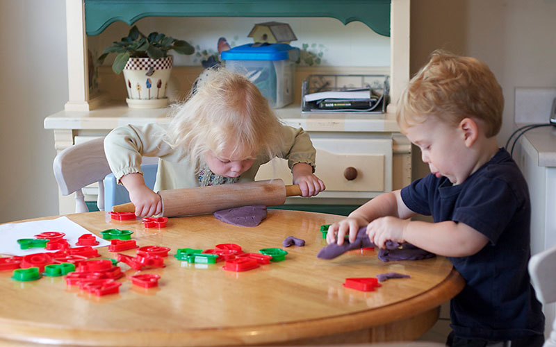 How to Homeschool Preschool and Love It Playdoh