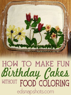 How to Make Fun Birthday Cakes without Food Coloring