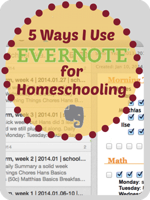 Five Ways to Use Evernote for Homeschooling :: Tech Thursday