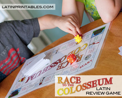 Latin Review Game Race to the Colosseum | Everyday Snapshots