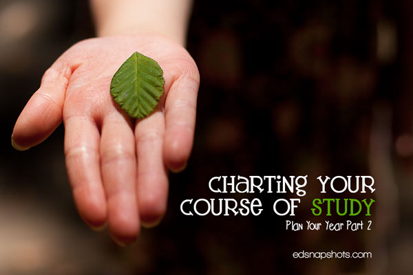 Charting Your Course of Study: Plan Your Year Part 2 | Everyday Snapshots