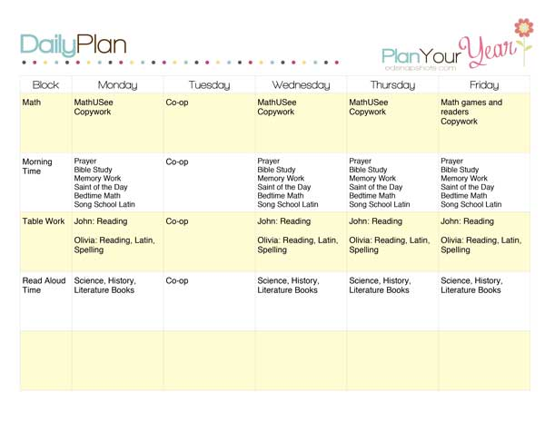 How To Plan A Week With A Sample Homeschool Schedule
