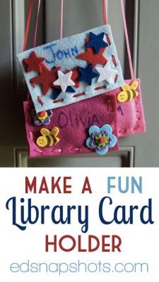 Make a Fun Library Card Holder
