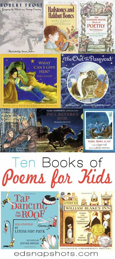 Ten Books of Poems for Kids