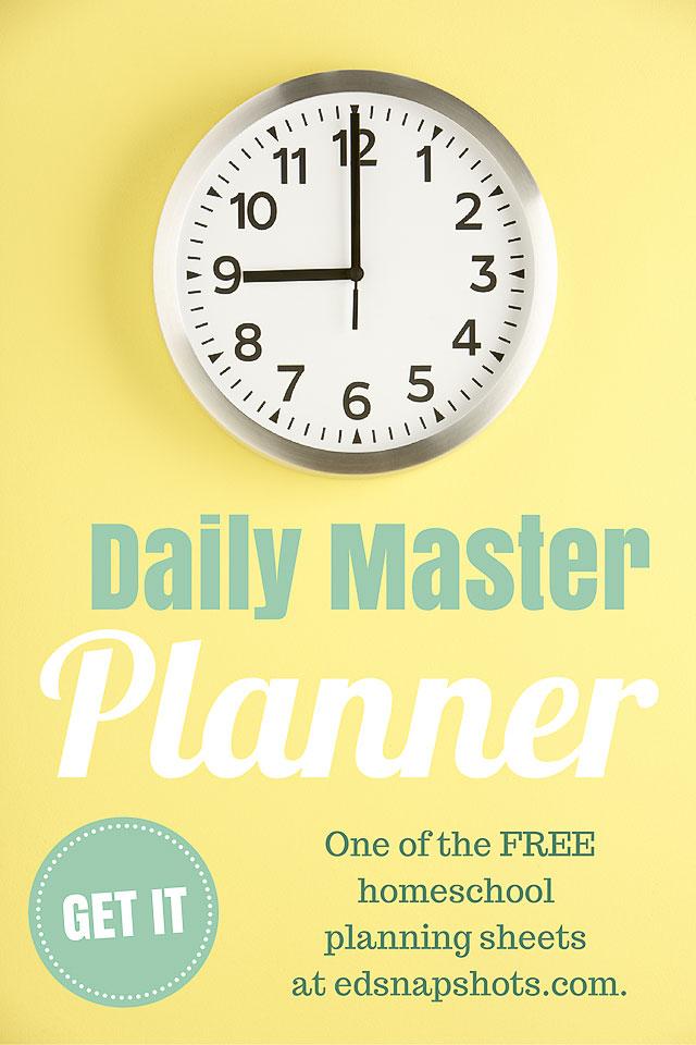 Free Homeschool Planner —  Master Plan
