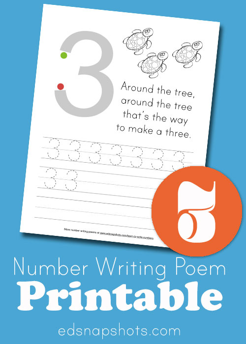 Learn to Write Numbers Three
