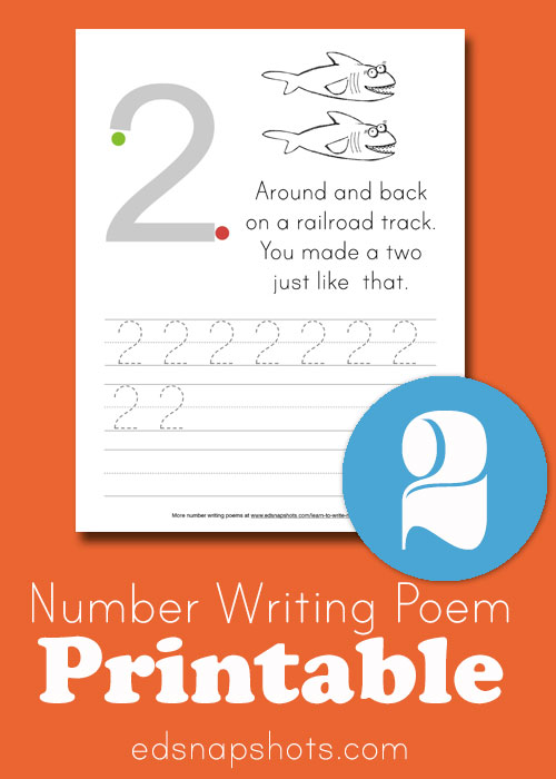 Learn to Write Numbers: Two printable