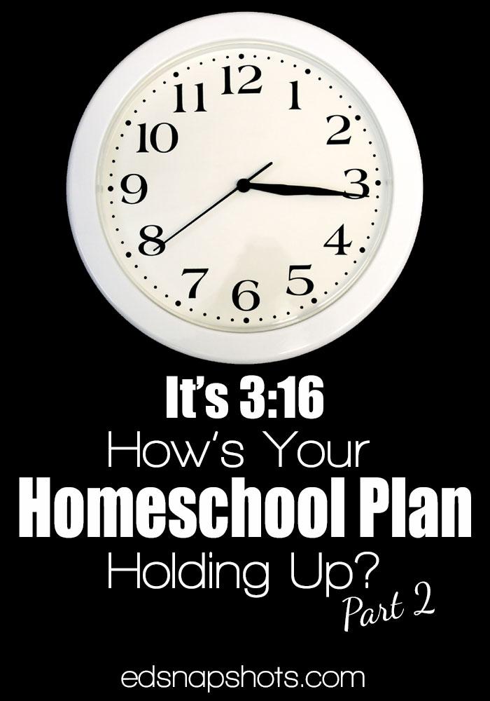 Homeschool Planning Evaluating Changes
