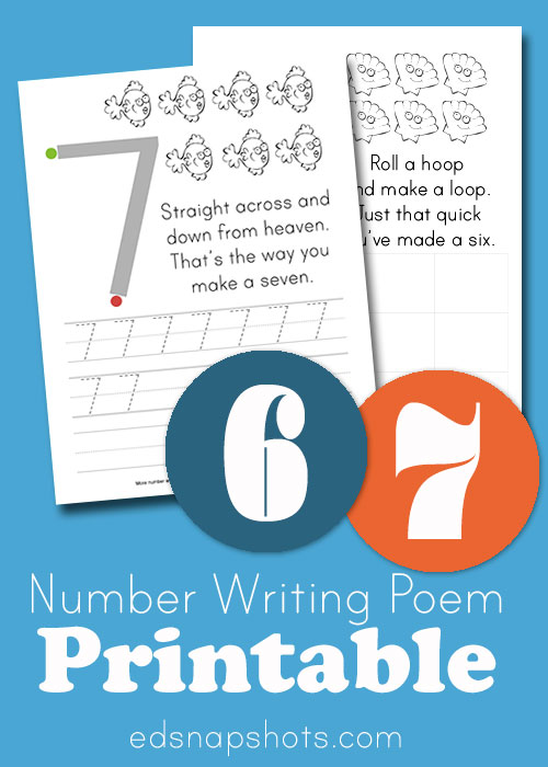 Learn to Write Numbers: Six and Seven