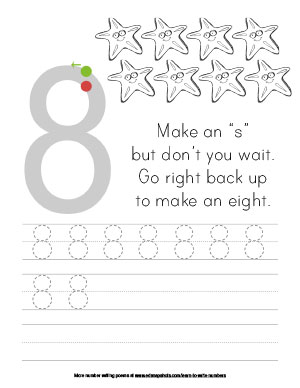 Learn to Write Numbers Eight Tracer Version