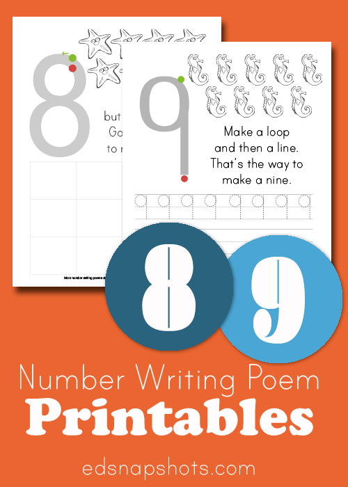 Learn to Write Numbers: Eight and Nine