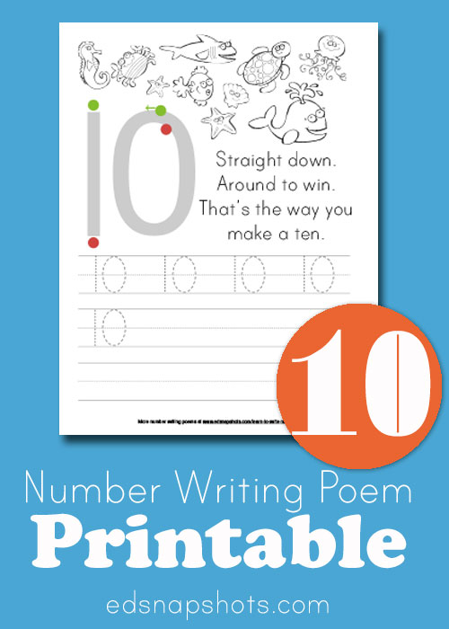 Learn To Write Numbers: Ten