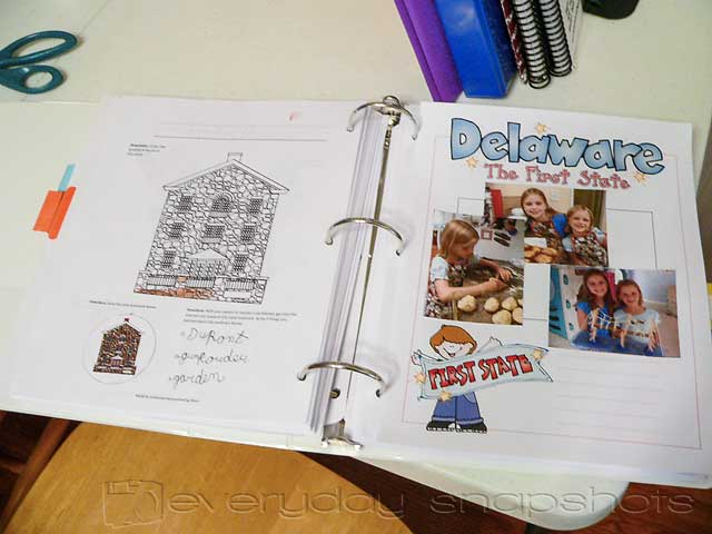 US Geography Scrapbook Pages