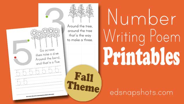 Learn to Write Numbers: Autumn Theme Printables