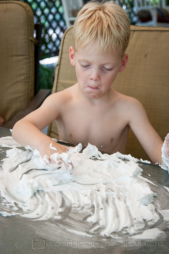 Learn to Write Numbers Ten with Shaving Cream!