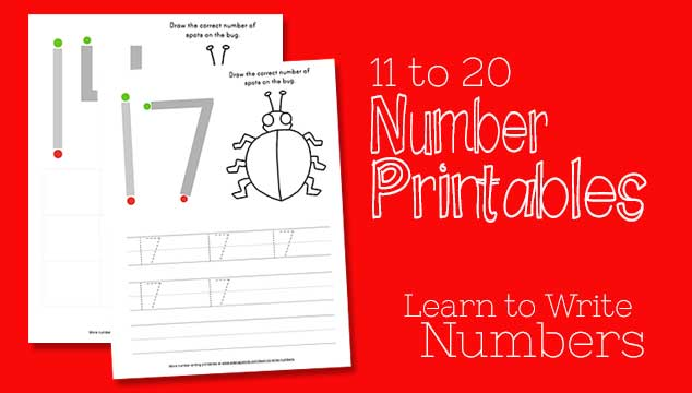 Learn To Write Numbers 11-20 Using This Free Printables