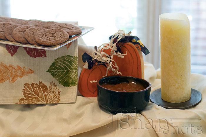Fall poetry tea molasses cookies