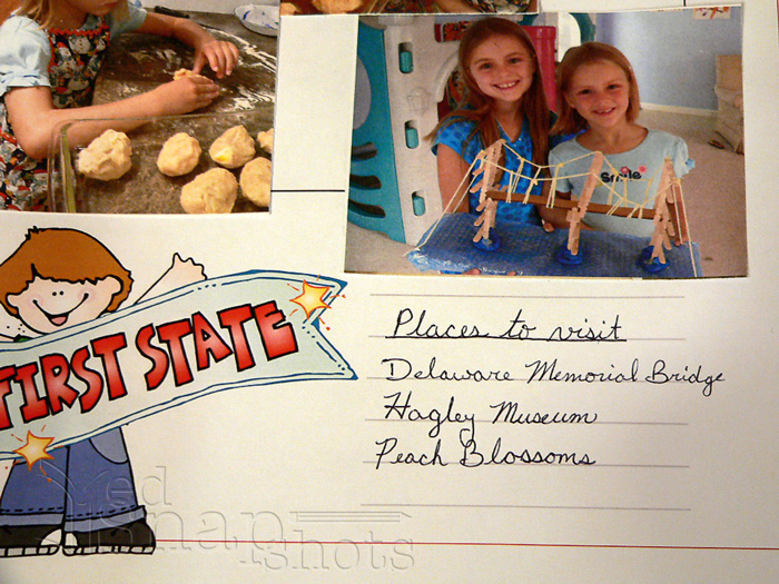 How We Use Our Free 50 State Scrapbooking Pages Journaling