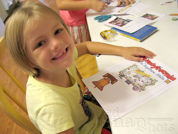 How We Use Our Free 50 State Scrapbooking Pages Finished