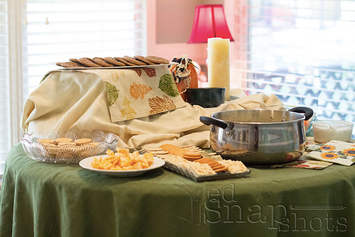 Fall poetry tea party food