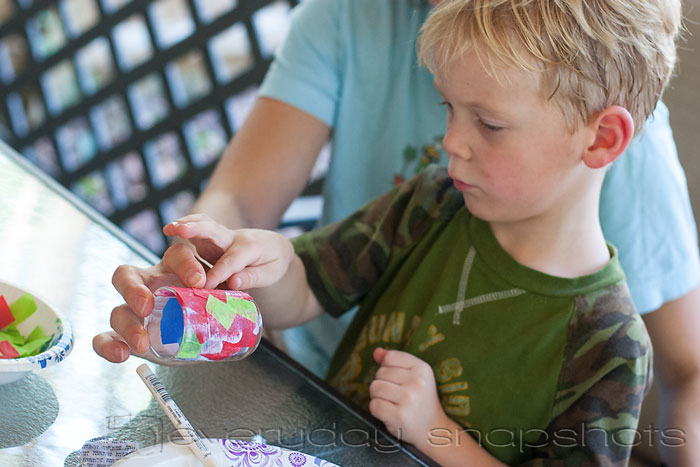 Colorful Votive Holders young crafters