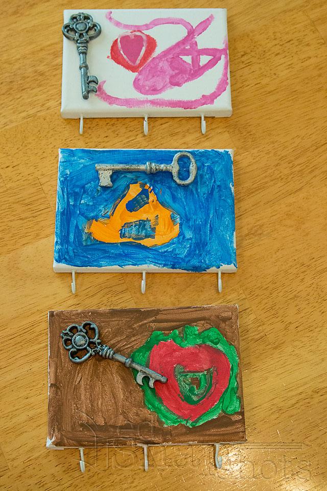 DIY Christmas Gifts Kids Can Make Key Hangers Selection