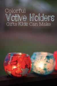 Colorful Votive Holders: DIY Christmas Gifts