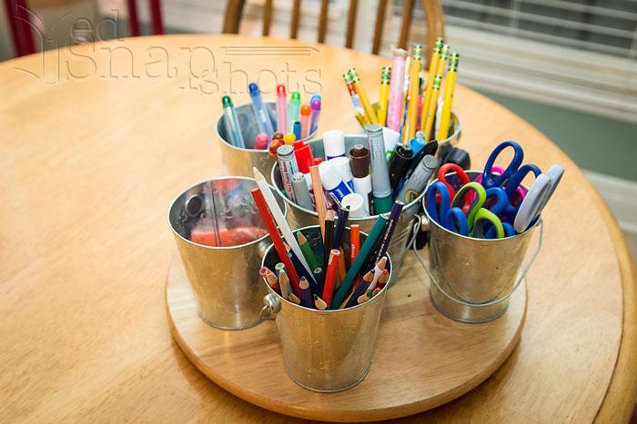 Six Tools for Organizing Your Homeschool Room Buckets