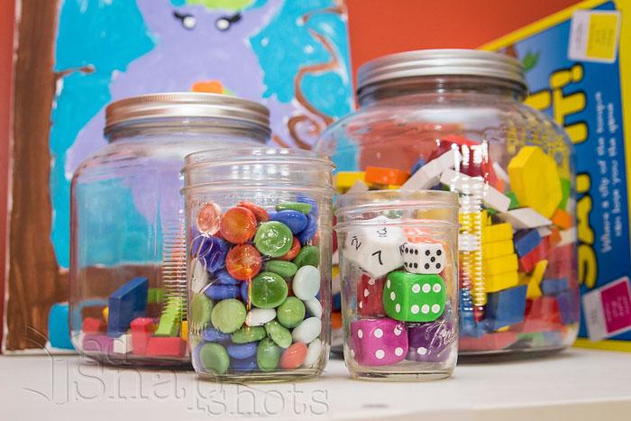 Six Tools for Organizing Your Homeschool Room Glass Jars