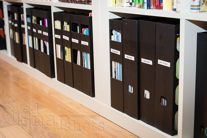 Six Tools for Organizing Your Homeschool Room Magazine Holders Row
