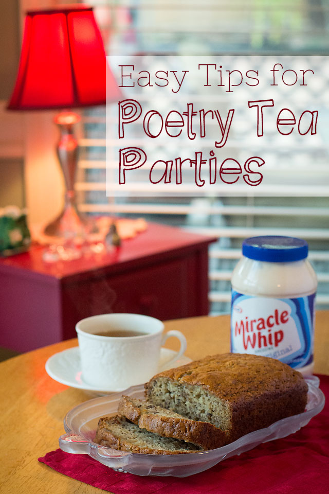 Easy Tips for Poetry Tea Parties