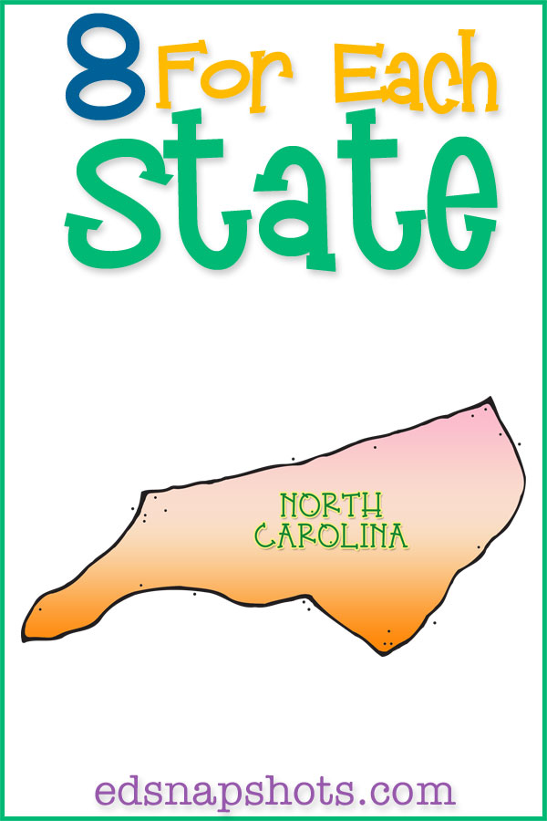 Join us as we study all 50 states in the homeschool geography unit study. Learn US geography with videos, books, food, activities and more. Click to see our North Carolina unit study and download your free state scrapbooking pages.