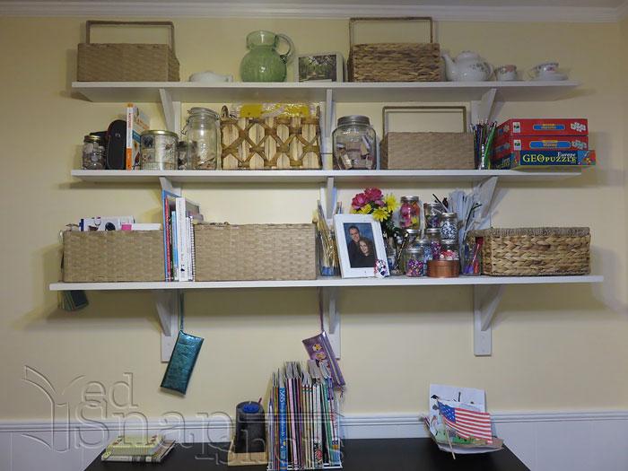 Ikea Homeschool Room Makeover Shelves