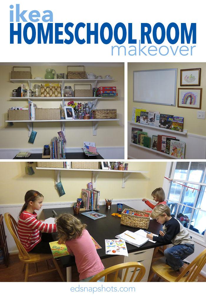 Ikea Homeschool Room Makeover