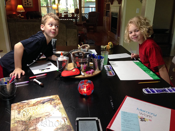 Morning Time and How It Can Change Your Homeschool: Kids at Work