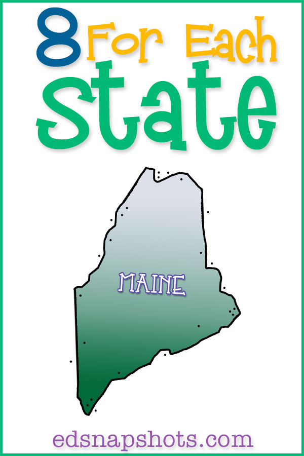 Join us as we study all 50 states in the homeschool geography unit study. Learn US geography with videos, books, food, activities and more. Click to see our Maine unit study and download your free state scrapbooking pages.