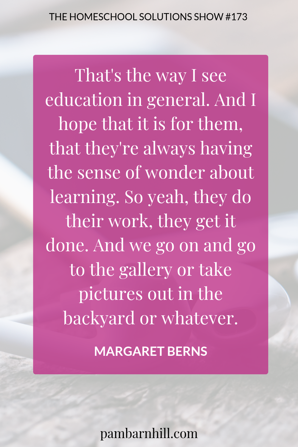 HS 173: Are You a School At Home Homeschooler with Margaret Berns Pin