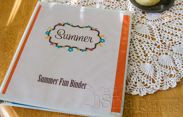 Get Organized for Summer with Kids Binder
