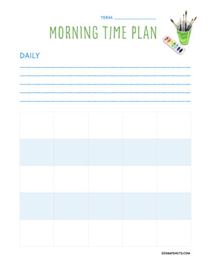 Morning Time Planning Forms