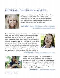 YMB #5 Basket Bonus Tips for Morning Time with Big Families