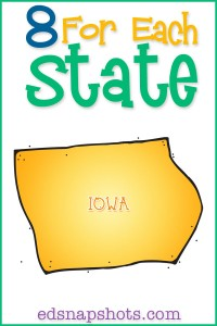Eight for Each State Iowa Us Geography Study