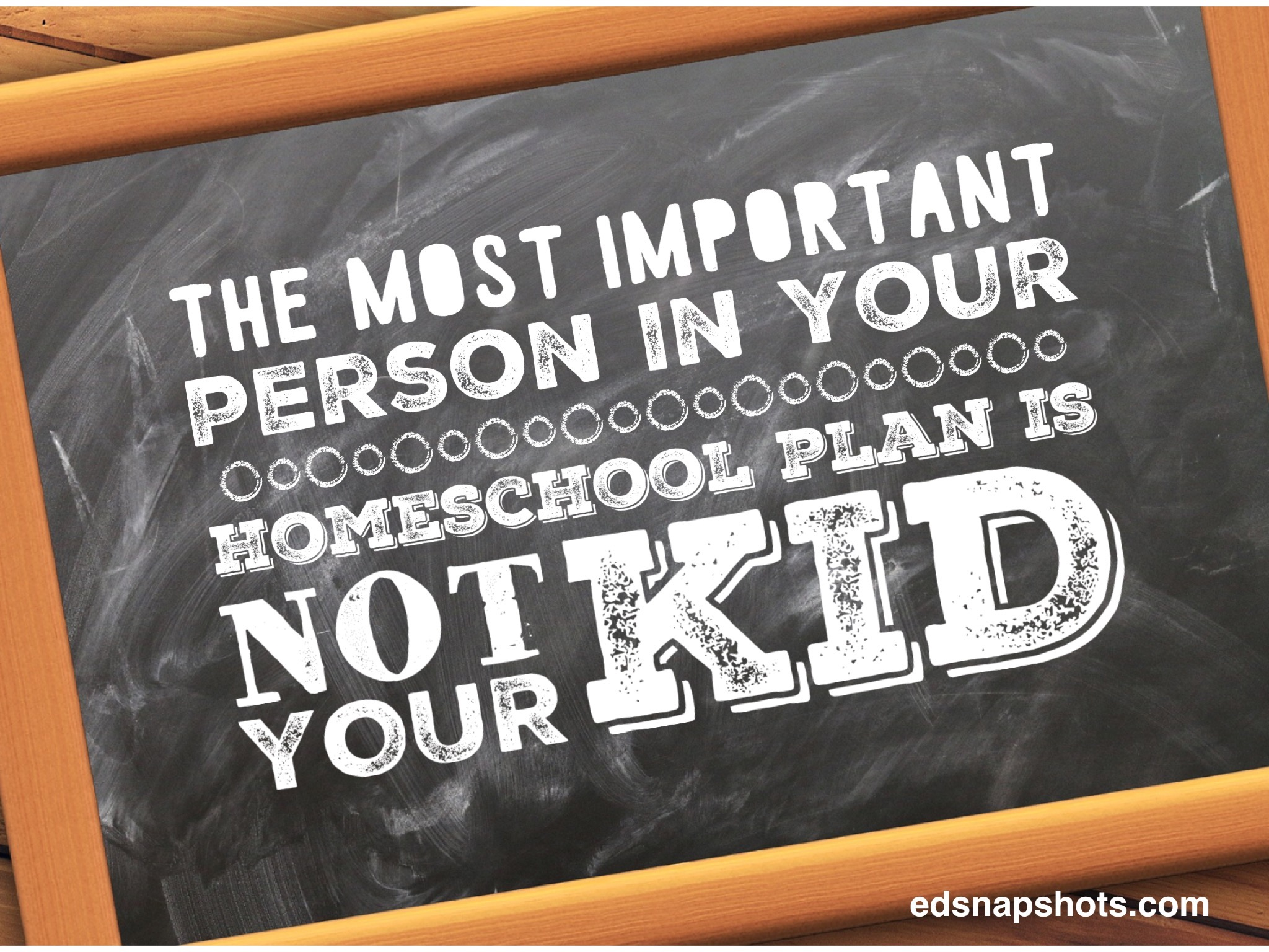 The most important person in your homeschool plan is not your kid
