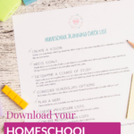 Homeschool Planning Checklist and Plan with Me