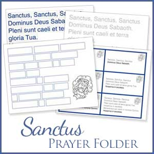Sanctus Prayer Folder and Memory Cards