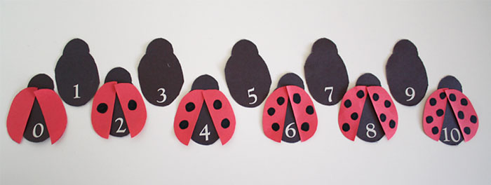 Easy Preschool Math with Bedtime Math Ladybug Addition