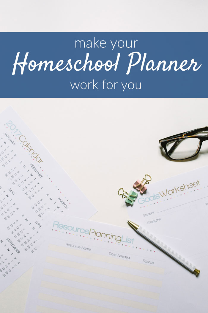The homeschool planner is one of the most vital tools for a homeschool mom -- but only if it works. Homeschool lesson planners should look different than other teacher planners. Here is how to make yours work for you.