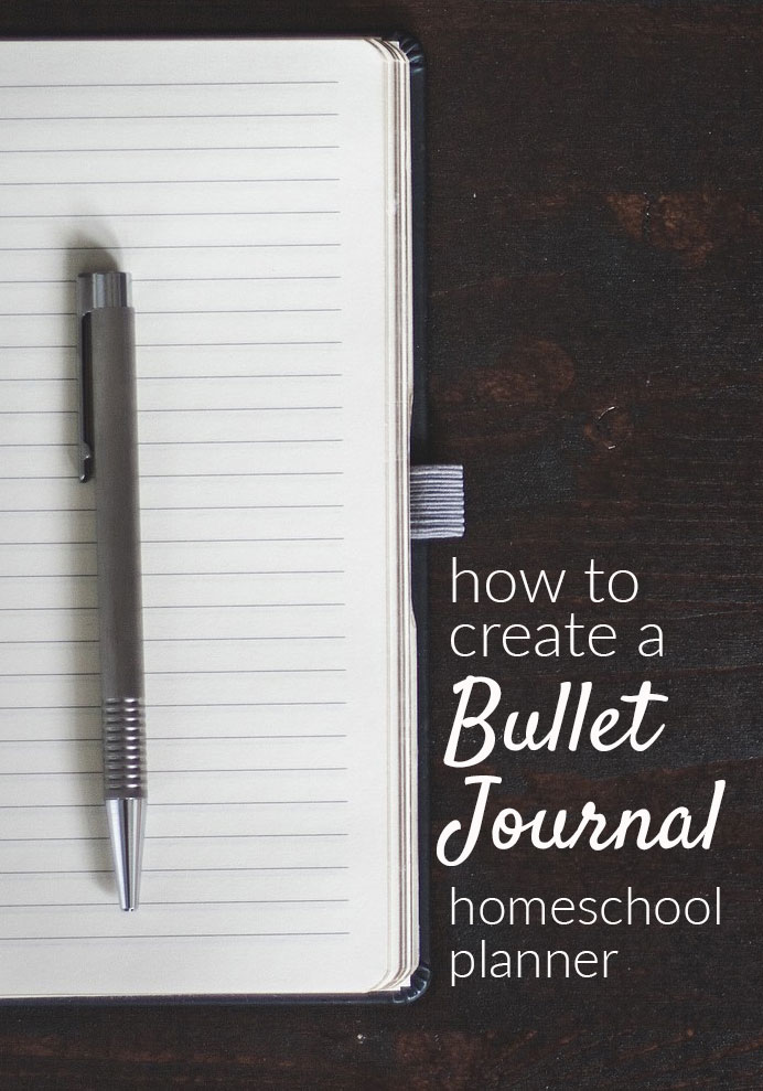 What if you want more freedom than your typical pre-printed homeschool planner allows? Check out this resource for getting started with your own bullet journal homeschool planning pages.