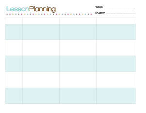 Lesson Plan Horizontal