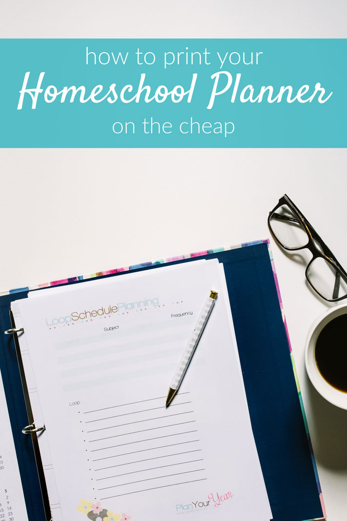 Do you want the flexibility of a printable homeschool planner but worry about the cost of printing? These ideas will help you get the planner you want at a cost you will love.