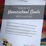How to set homeschool goals with your kids